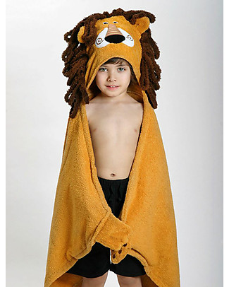 Zoocchini Kids Hooded Towel, Leo the Lion - 100% cotton Towels And Flannels