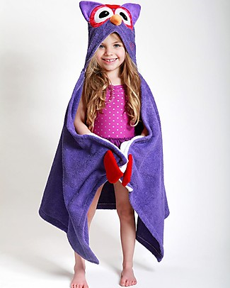 Zoocchini Kids Hooded Towel, Olive the Owl - 100% cotton Towels And Flannels
