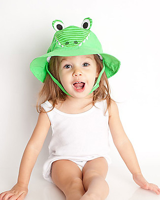 Zoocchini Sunhat UPF 50, Aiden the Alligator - Funny and useful! Sunhats
