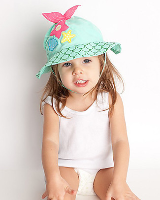 Zoocchini Sunhat UPF 50, Marietta the Mermaid - Funny and useful! Sunhats