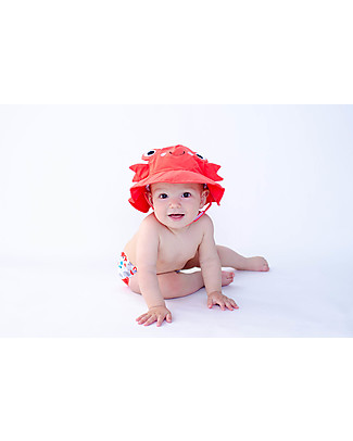Zoocchini Swim Diaper & Sun Hat Set, Crab - UPF 50+ Swim Diaper