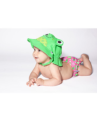 Zoocchini Swim Diaper & Sun Hat Set, Frog - UPF 50+ Swim Diaper
