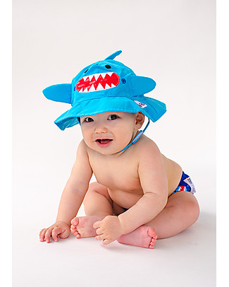 Zoocchini Swim Diaper & Sun Hat Set, Shark - UPF 50+ Swim Diaper