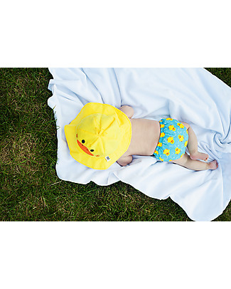 Zoocchini Swim Diaper & Sun Hat Set, Duck – UPF 50+ Swim Diaper