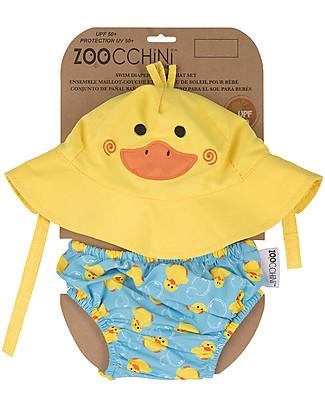 Zoocchini Swim Diaper & Sun Hat Set, Duck - UPF 50+ null