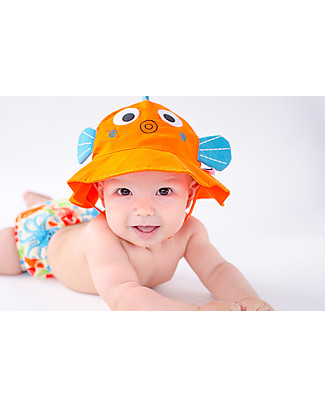 Zoocchini Swim Diaper & Sun Hat Set, Fish - UPF 50+ Swim Diaper