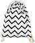 Backpack Florencia, Zig Zag Black - Organic cotton