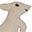 Mini fabric animal, Kangaroo - Perfect party favour