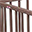 Louis, Solid Beechwood Oval Playpen, Taupe - Four removable bars!