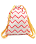 Backpack Florencia, Zig Zag Pink - Organic cotton