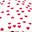 Fuchsia Hearts Playmat - 100% Organic Cotton, 100 x 100 cm