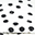 Black Dots Playmat - 100% Organic Cotton, 100 x 100 cm