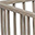 Louis, Solid Beechwood Oval Playpen, Light Grey - Four removable bars!